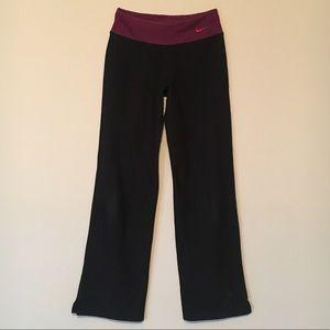 Nike Yoga Pants Maroon and Black Size XS